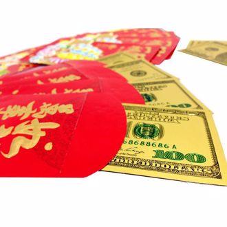 Hình ảnh củaTiền Đô La 100 USD Mạ Vàng 3D (2 Mặt) May Mắn