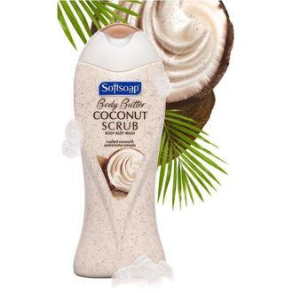 Hình ảnh củaSữa Tắm Tẩy Da Chết Softsoap Body Scrub Coconut Butter - Mỹ