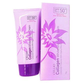 Kem chống nắng dưỡng ẩm Cellio Collagen Whitening Sun - Hàn Quốc