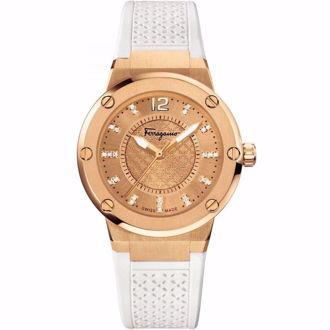 Hình ảnh củaĐồng Hồ Nữ Salvatore Ferragamo F-80 FIG070015 Diamond White watch 33mm (Xách Tay Chính Hãng)